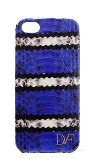 DVF Blue-Striped Snake Leather iPhone 5 Case