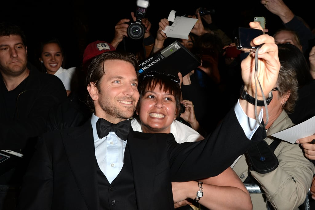 Bradley Cooper snapped a fan photo.