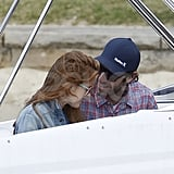 Isla Fisher and Sacha Baron Cohen took a romantic boat ride around Sydney's harbor.