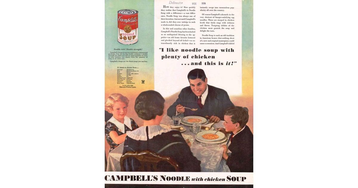 1934  campbell's chicken noodle soup vintage ads