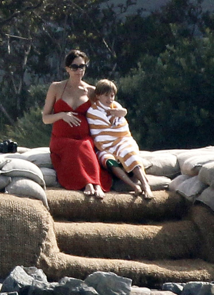 Victoria Beckham hung out on the beach in Malibu, CA, with Romeo just before giving birth to baby Harper in the Summer of 2011.