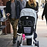 Jeremiah Brent shopping with Rachel Zoe and Skyler.