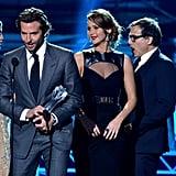 Bradley Cooper, Jennifer Lawrence, David O. Russell, and Robert De Niro