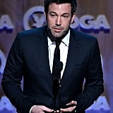 Ben Affleck took the mic to introduce director Alfonso Cuarón.