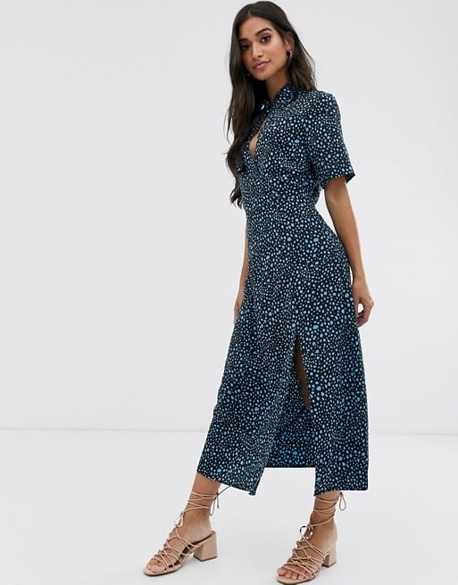 Fashion Union High Neck Midi Shift Dress