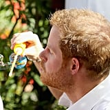 Prince Harry Blowing Bubbles