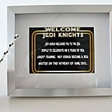 Welcome, Jedi Knights