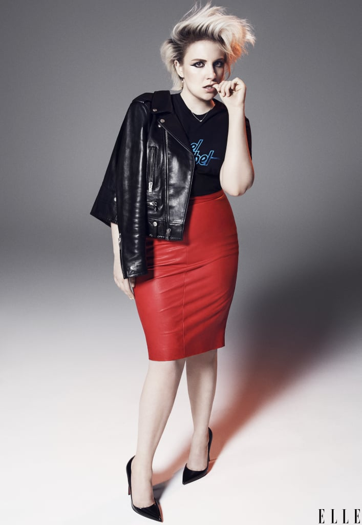 """Girls star and creator Lena Dunham covers Elle's February 2015 Women in TV issue. Opening up about fame and life in the public eye, Lena explained how she tries to use her celebrity in a positive way. """"I realised early on that I was not going to be able to have a comfortable relationship with celebrity if I didn't feel like I was using it to talk about things that were important to me,"""" she said. """"It was always going to make me feel gross, for lack of a better word. I was like, 'Oh, this attention is something I'm going to figure out how to use in a way that feels productive, healthy, and smart. And not just like as an excuse to collect handbags.' Although, I love handbags."""" Lena, who's kicking off the New Year as a brunette, stepped out this week for the Girls season four premiere, as the new season starts in February. Get a glimpse of Girls' fourth season, and check out the full Lena Dunham feature in Elle's February 2015 issue, which hits newsstands on Jan. 13."""