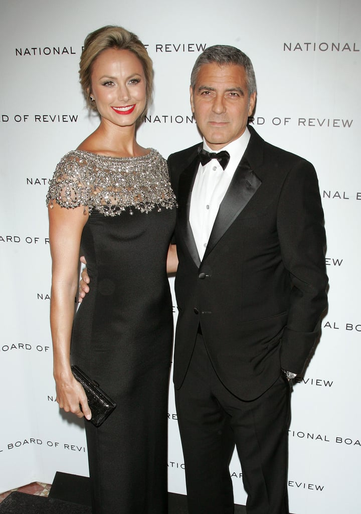 George Clooney and Stacy Keibler paused for photos before heading into the 2011 National Board of Review Awards gala.