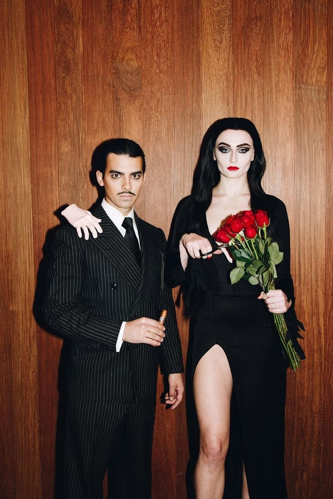 Joe Jonas and Sophie Turner as Morticia and Gomez Addams
