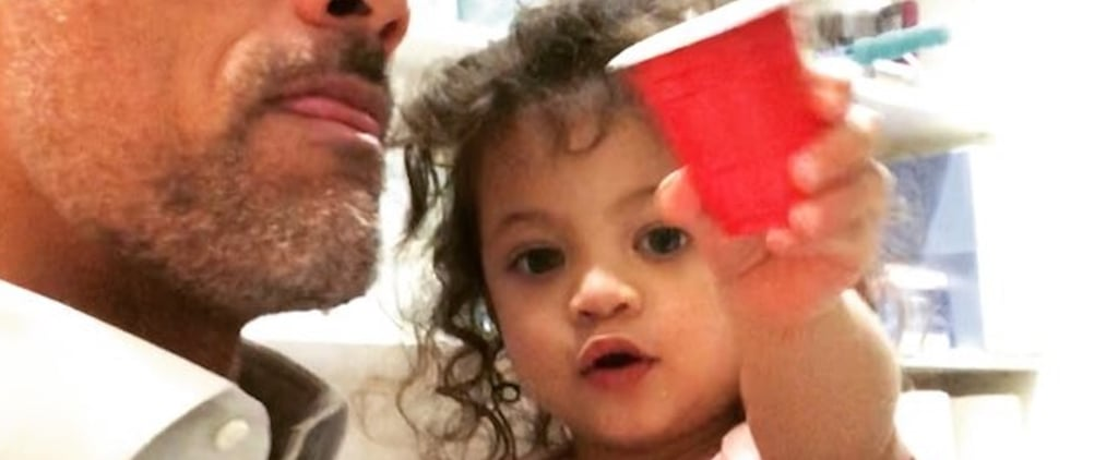 Baby Jasmine Is Only 2, but She Already Has Dwayne Johnson Wrapped Around Her Finger