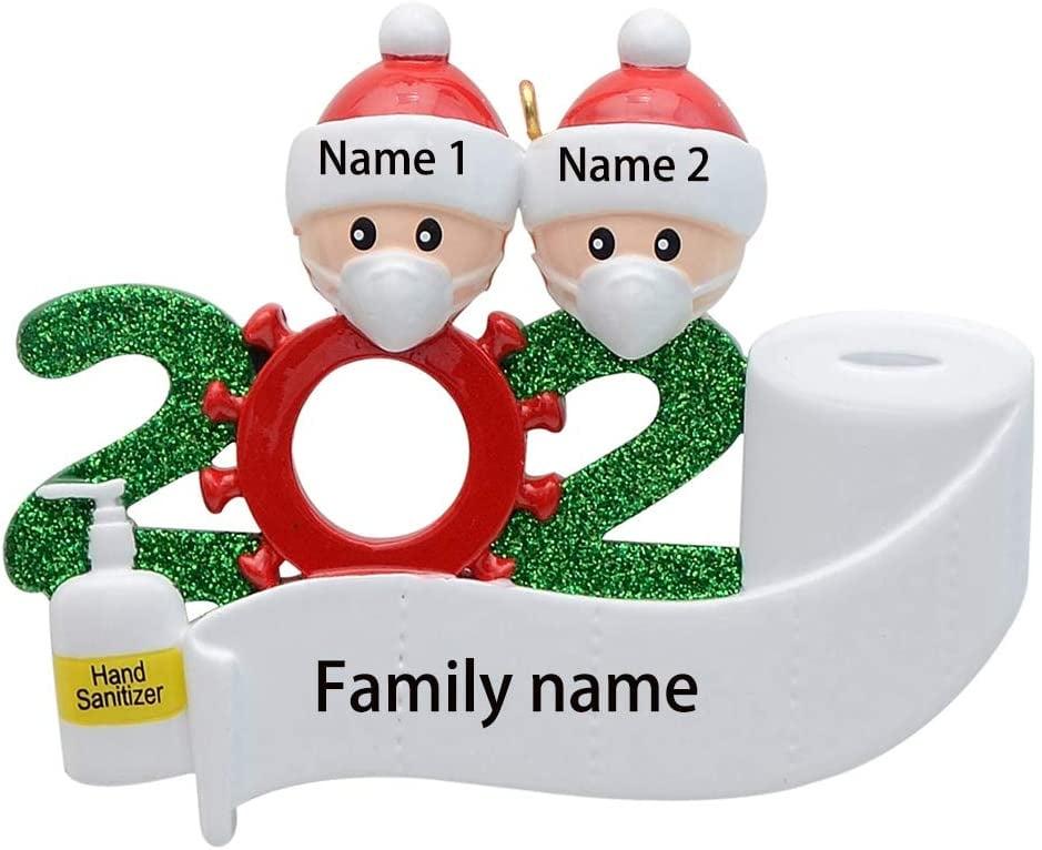 2020 Covid Quarantine Personalized Ornaments