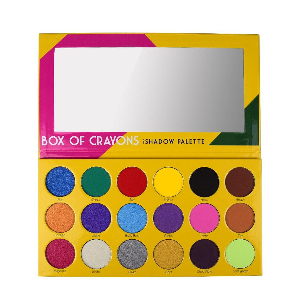 crayon case box of crayons eye shadow palette swatches popsugar beauty