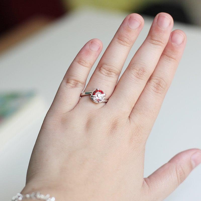 Sterling Silver Pokéball Ring ($50)