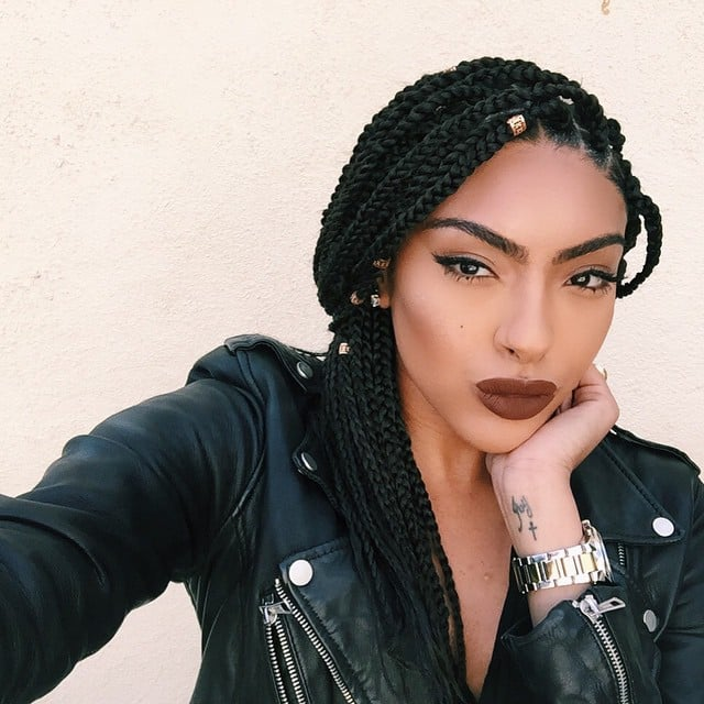 Pleasant Black Braided Hairstyles With Extensions Popsugar Beauty Short Hairstyles For Black Women Fulllsitofus