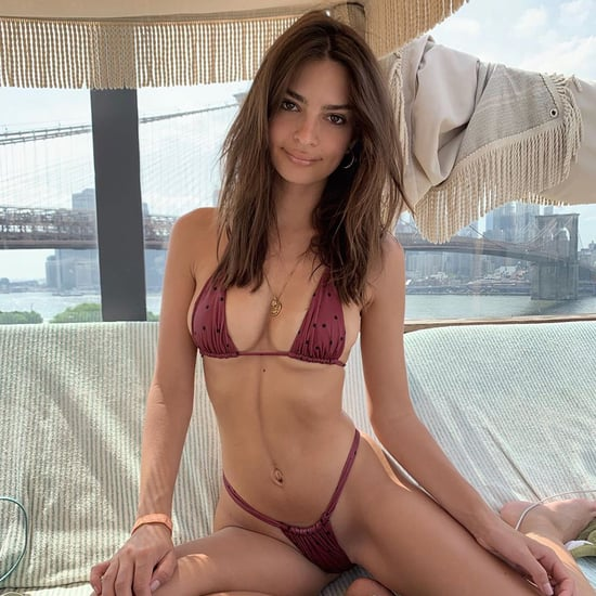 Emily Ratajkowski Wears Purple Bikini For Her 28th Birthday