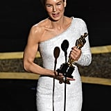 Renee Zellweger at the 2020 Oscars