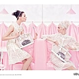 We spy a whole lot of Louis Vuitton sheer eyelet dresses in the house's Spring 2012 ads. Source: Fashion Gone Rogue