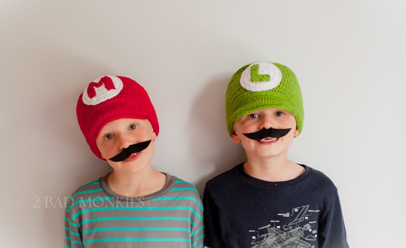 c18b1a085 Super Mario and Luigi Hat Set | Kids' Halloween Costumes | POPSUGAR ...