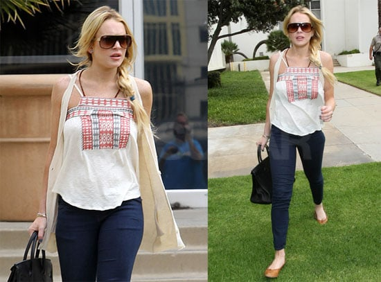 Pictures of Lindsay Lohan Leaving Court in LA