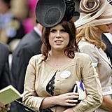 For a day at Royal Ascot, the princess wore a black fascinator.