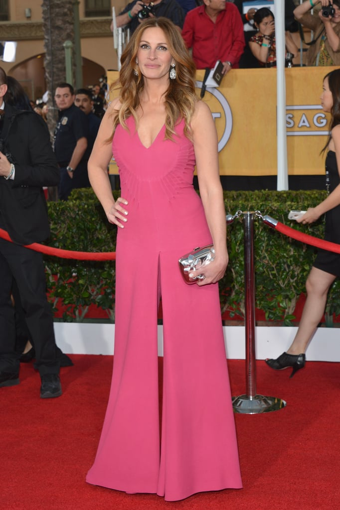 How great did Julia Roberts look in her hot-pink jumpsuit?