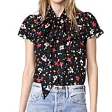 Marc Jacobs Button Flutter Sleeve Top