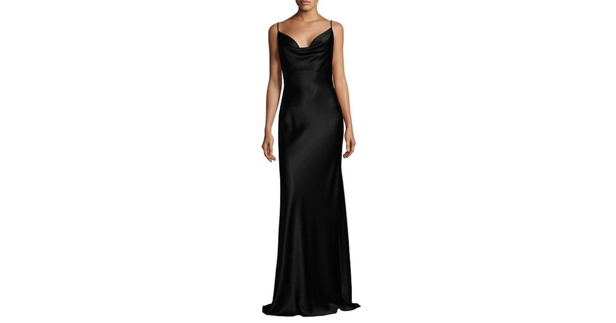 Black Halo Bessette Gown | Kim Kardashian Black Yeezy Dress at ...