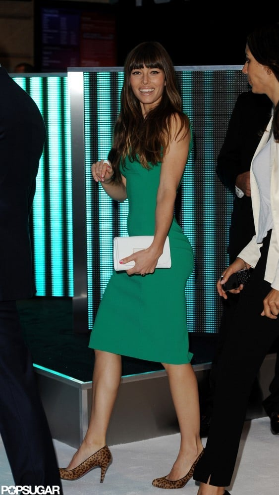 Jessica Biel Has a Change of a Dress For the Total Recall Afterparty