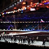 Athletes made their arrivals during the Parade of Nations.