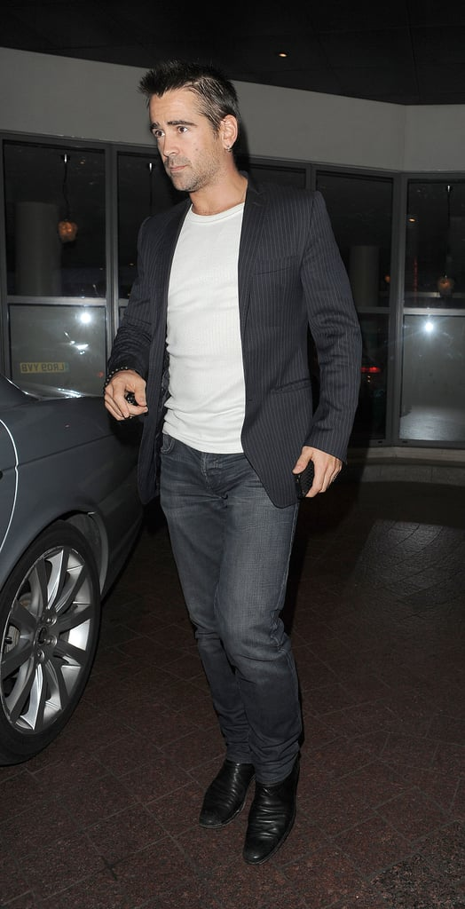 Colin Farrell attended a private screening of Total Recall in London.