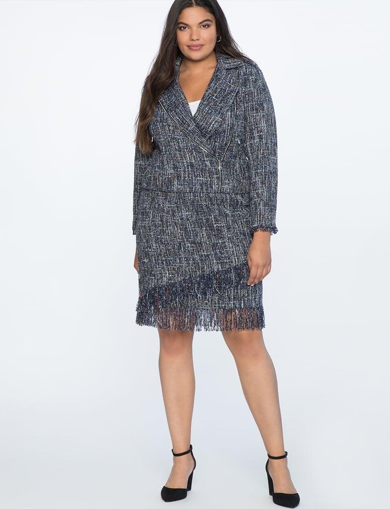 Eloquii Fringed Tweed Set