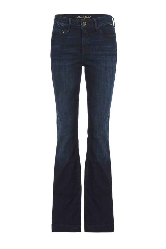 Sheena High Rise Flare Midnight Gold Reform, $150