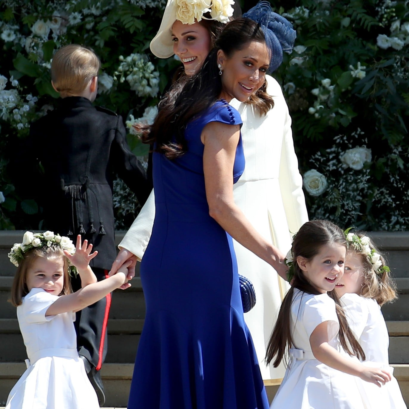 Jessica Mulroney S Blue Dress At Royal Wedding 2018 Popsugar Fashion