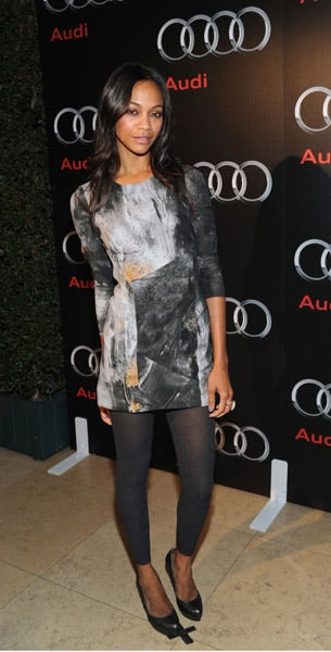 Zoe in Helmut Lang at the 2009 Audi Diesel dinner in West Hollywood.