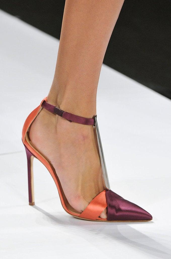 Ankle-Strap Pumps: Carolina Herrera Spring 2014