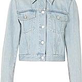 Gucci Cropped appliquéd denim jacket