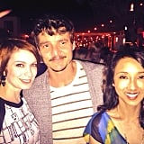"""Felicia Day caught up with Pedro Pascal, whom she described as """"the hottest man on the planet.""""  Source: Instagram user feliciaday"""