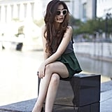 This posh style still feels effortless, thanks to shorts and cool shades.  Photo courtesy of Lookbook.nu