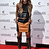 Ciara's Leather Outfit at Marquee in Las Vegas March 2016