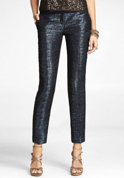 We love the midnight hue — and the perfect price point — on this pair. Express Jacquard Tweed Editor Ankle Pant ($70)