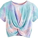 SweatyRocks Twist-Front Cut T-Shirt