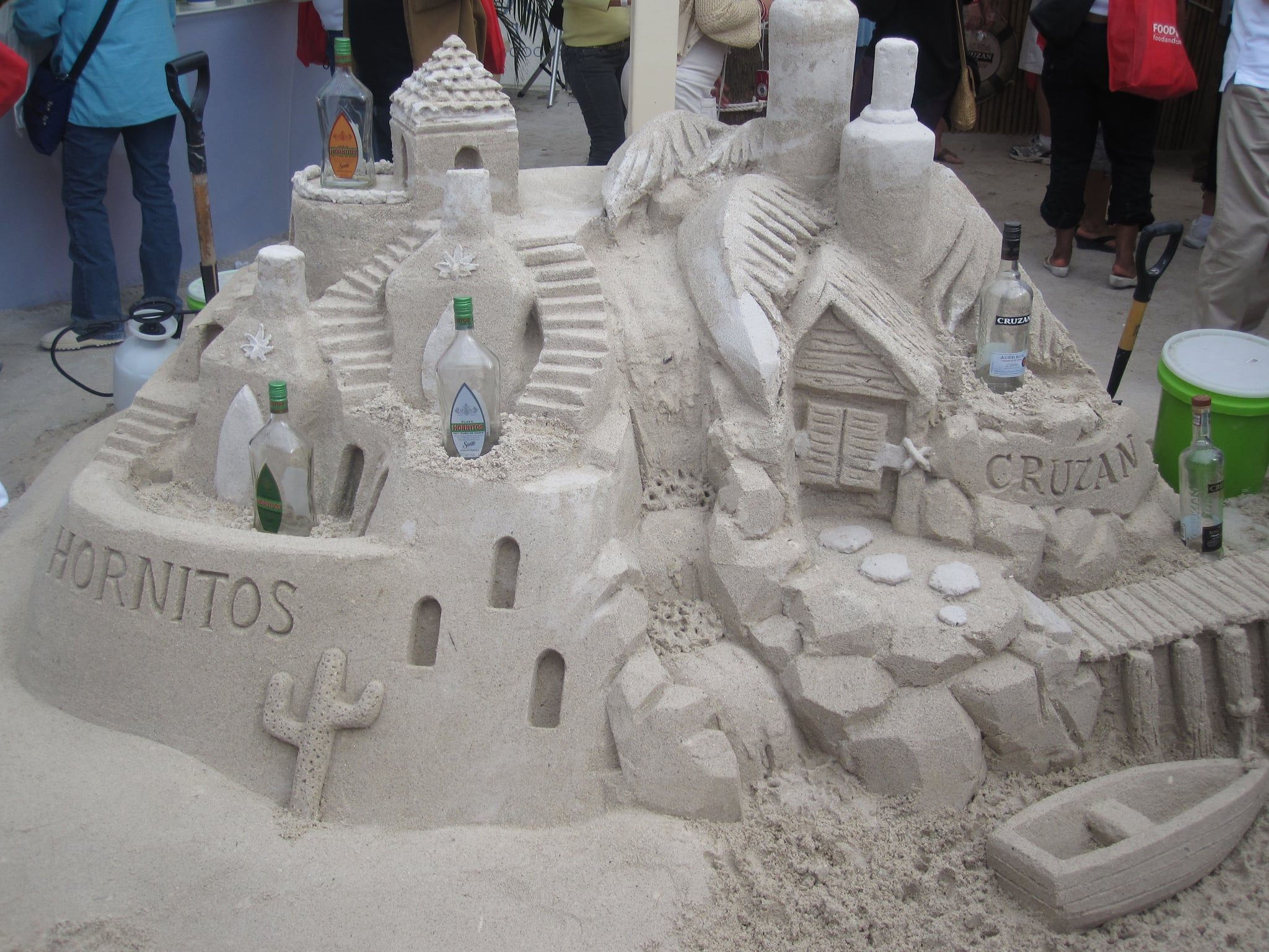 The finished sandcastle!