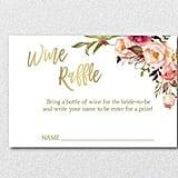 Wine Raffle Printable Tickets