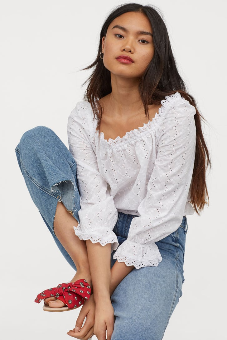 H&M Blouse With Eyelet Embroidery | Best Summer Shirts For