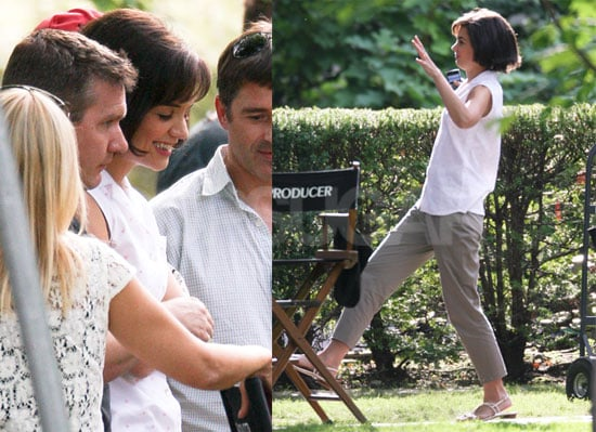Pictures of Katie Holmes on Set in Toronto For The Kennedys