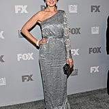Bones star Emily Deschanel popped up at the Fox Emmys after party.