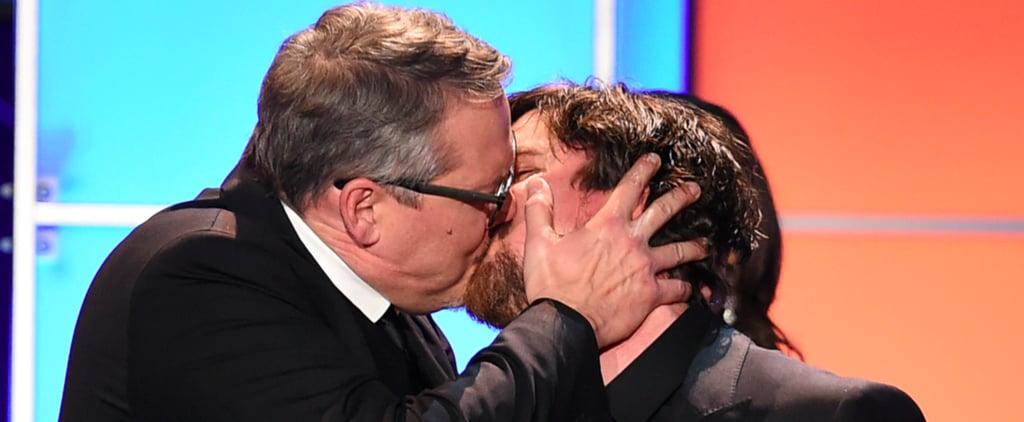 Christian Bale and Adam McKay Kiss at Critics' Choice Awards