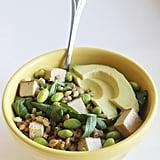 Get the recipe: lemon-soy edamame barley bowl
