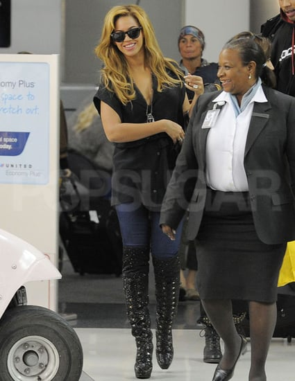 Pictures of Beyoncé Knowles at LAX